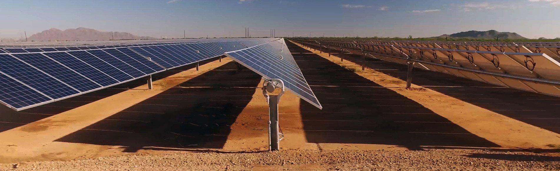 AUS Solar Farm Stock Image