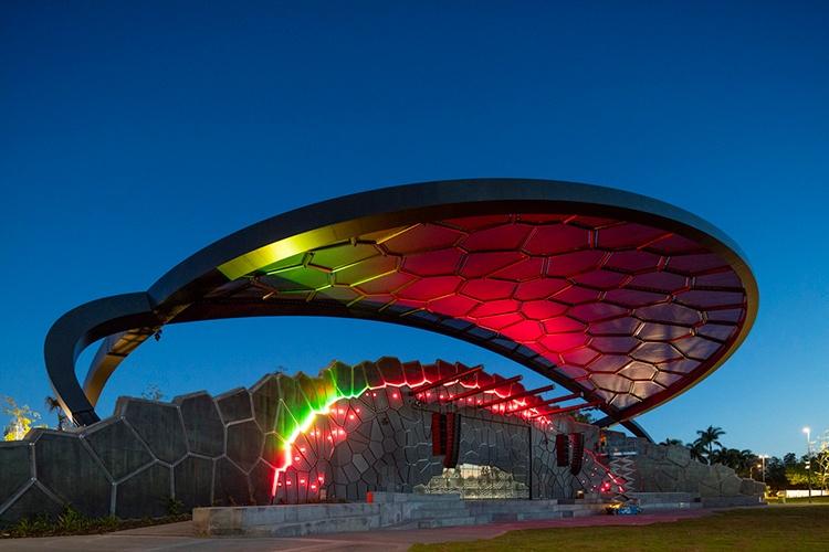 HOTA at night, Gold Coast Cultural Precinct